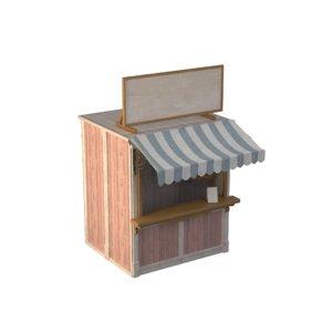 wooden stall model