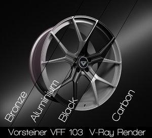vorsteiner vff 103 rim 3D model