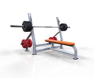 flat bench press model