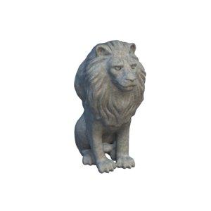 lion statuette 3D
