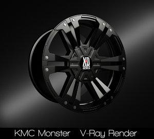 kmc monster rim model