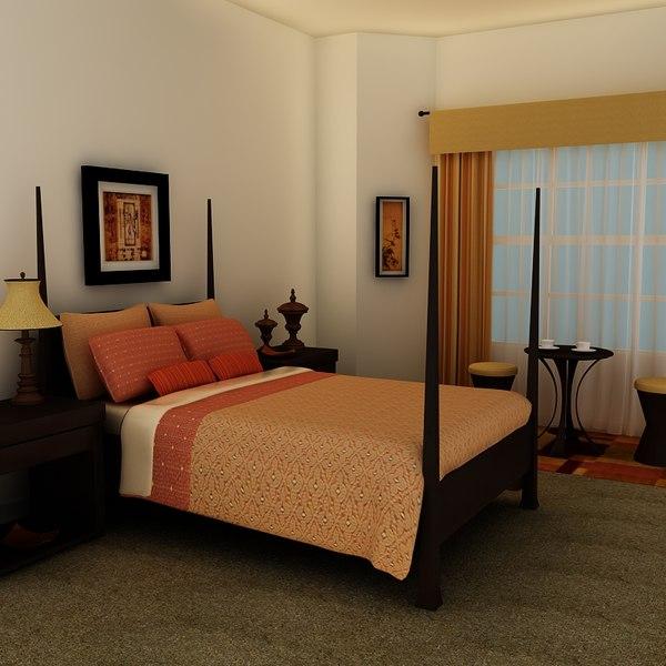 3d model bed frame