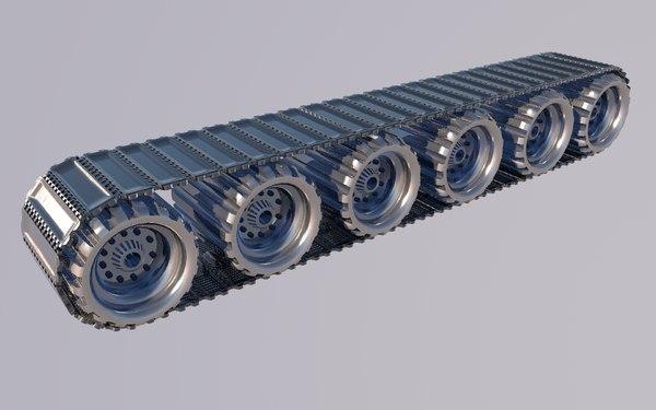 tank wheels 3D model