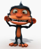 Monkey - Rigged
