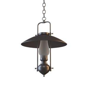 3D metal vintage lamp model