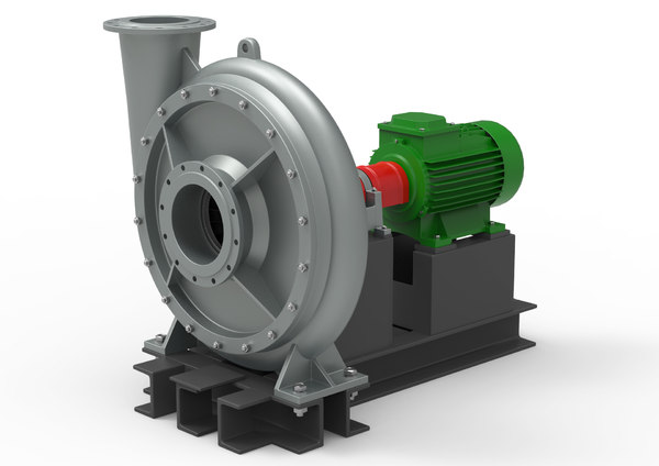 industrial turbo compressor 3D