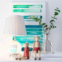 Decorative Set with Eichholtz Octavia Table Lamp