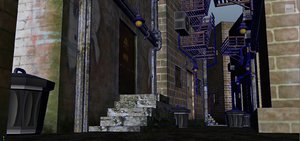 3D city alley model