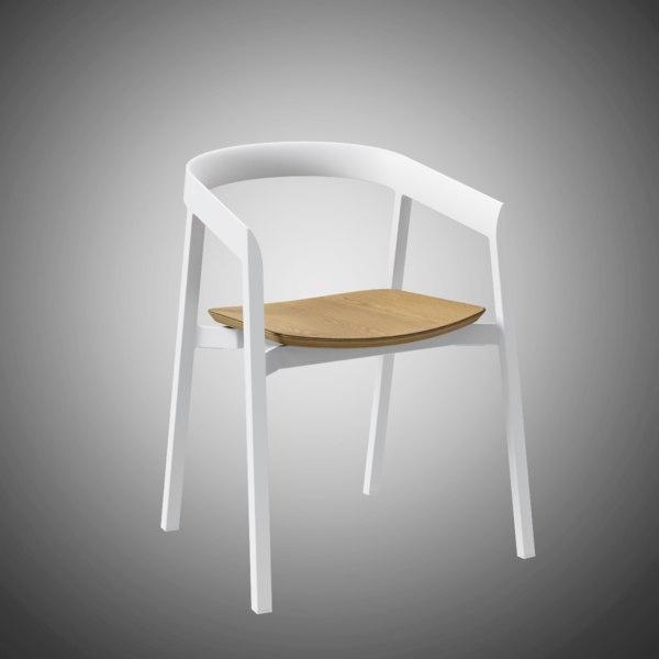 3D mornington dining chair oak