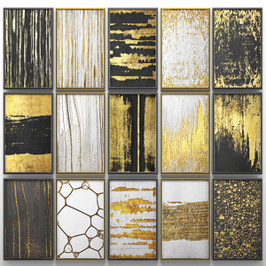 paintings gold walls model