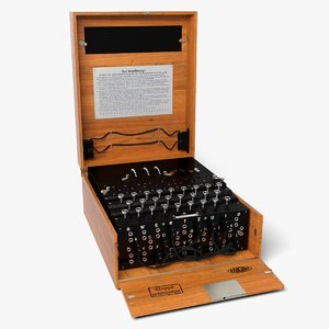 enigma cipher machine 3D