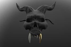 skull evil 3D model
