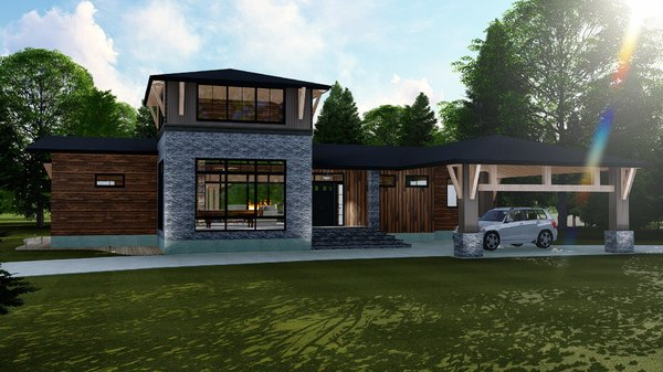 3D cabin modern