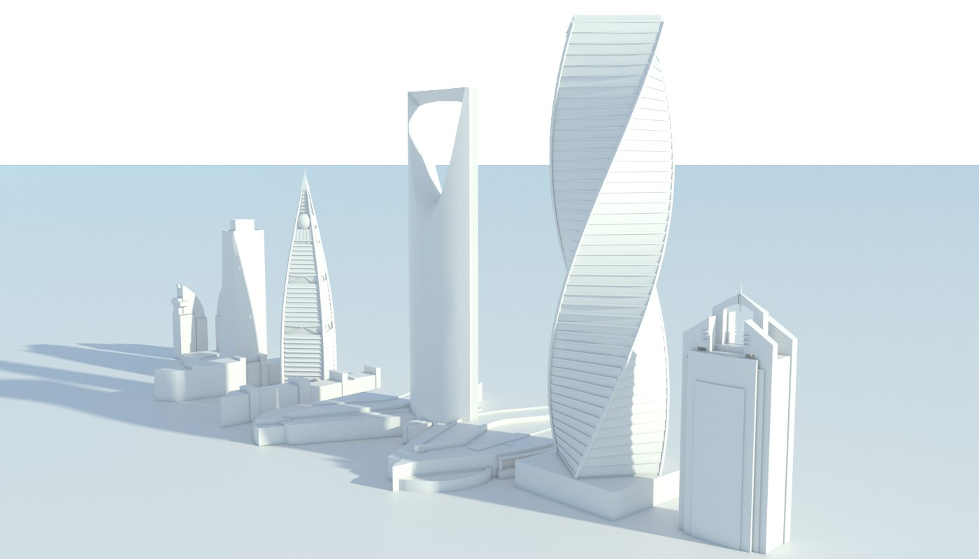 RIYADH SAUDI ARABIA 3D MODEL