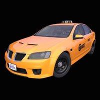 3D generic american taxi interior car
