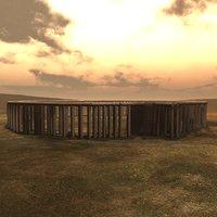 research neolithic newgrange henge 3D model