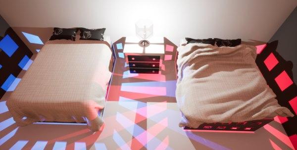 3D model blanket bed