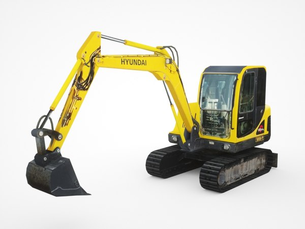 hyundai r55-5 mini excavator 3D