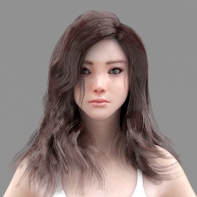 3D woman characters model
