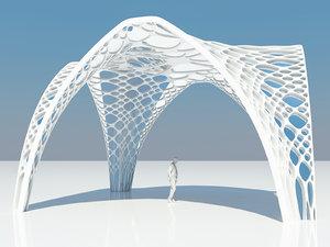 futuristic parametric pergola model