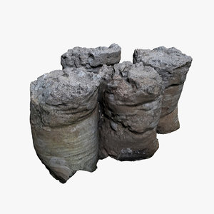 sack concrete 3D model