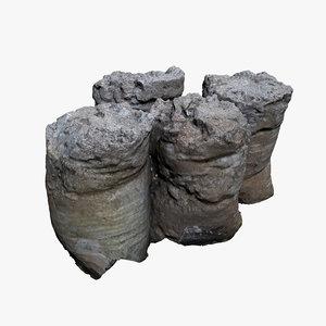 sack concrete 3D model