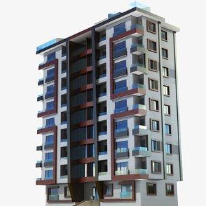 3D modern building 7 model