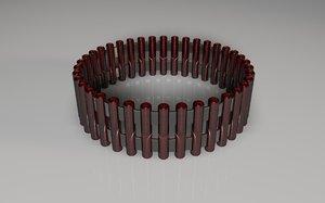 futuristic ring 3D model