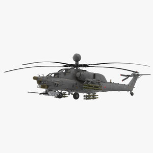 mi-28n gray 3D model