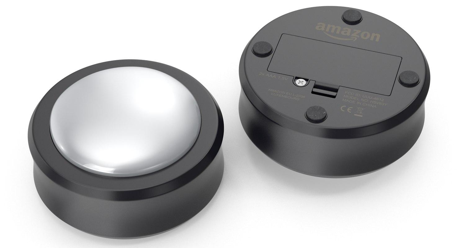 amazon echo button 3D model