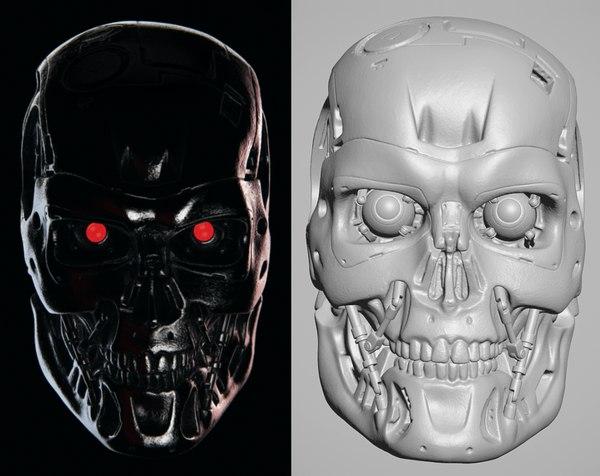terminator 2 endo skull model