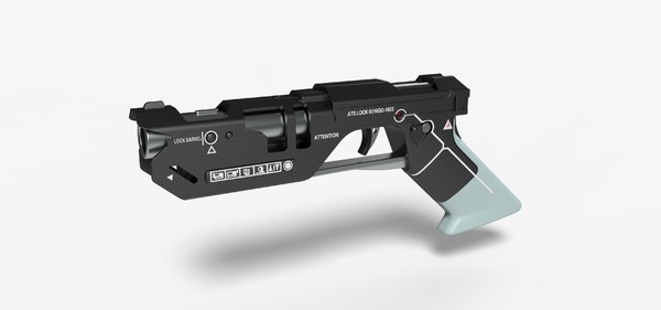 pistol oblivion movie 3D model
