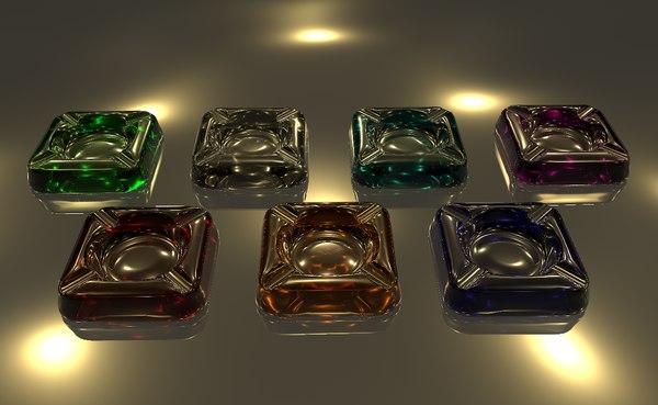 3D model ashtray interior