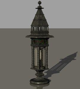 gothic themed lantern 3D model