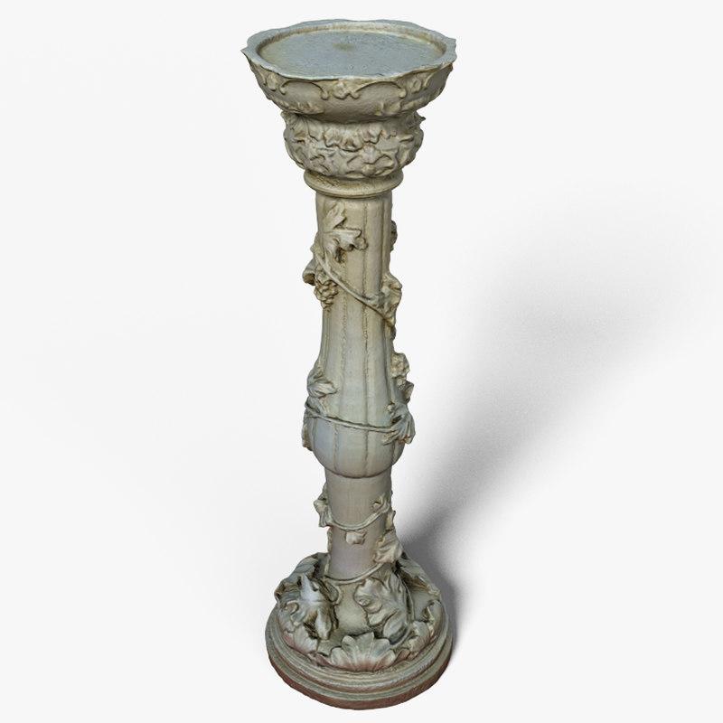 3D pedestal scan
