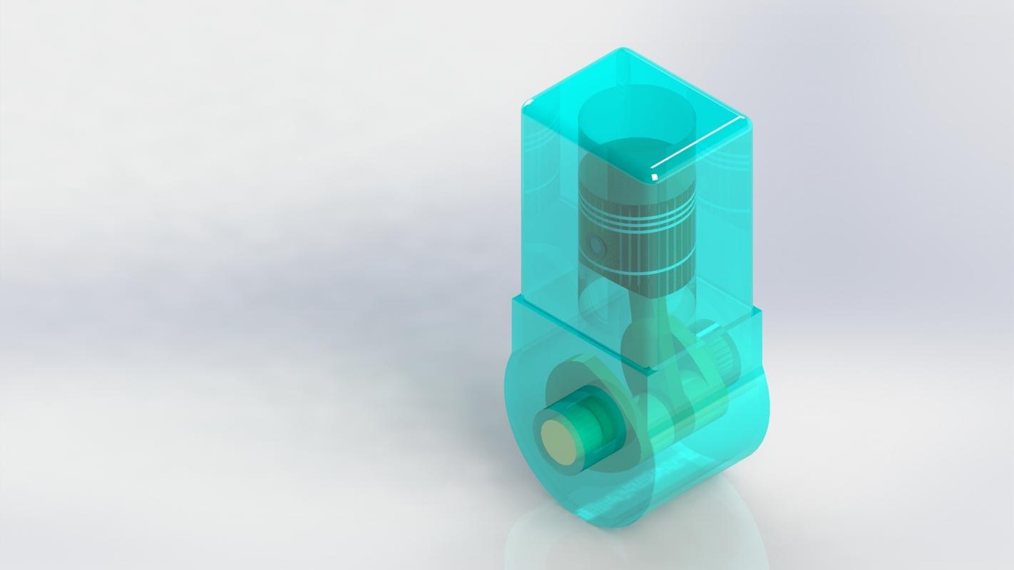 3D model ic engine piston