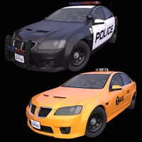 Generic American Taxi + Police pack