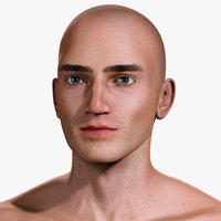 realistic man rigged human 3D model
