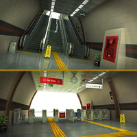 3D escalator tourniquet subway