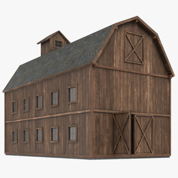 3D farm barn