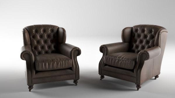 3D ardingley armchair