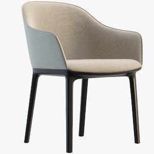 softshell chair vitra 3D model