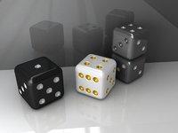 fun plastic dice 3D model