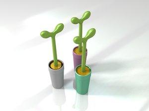 3D model italy alessi toilet brush