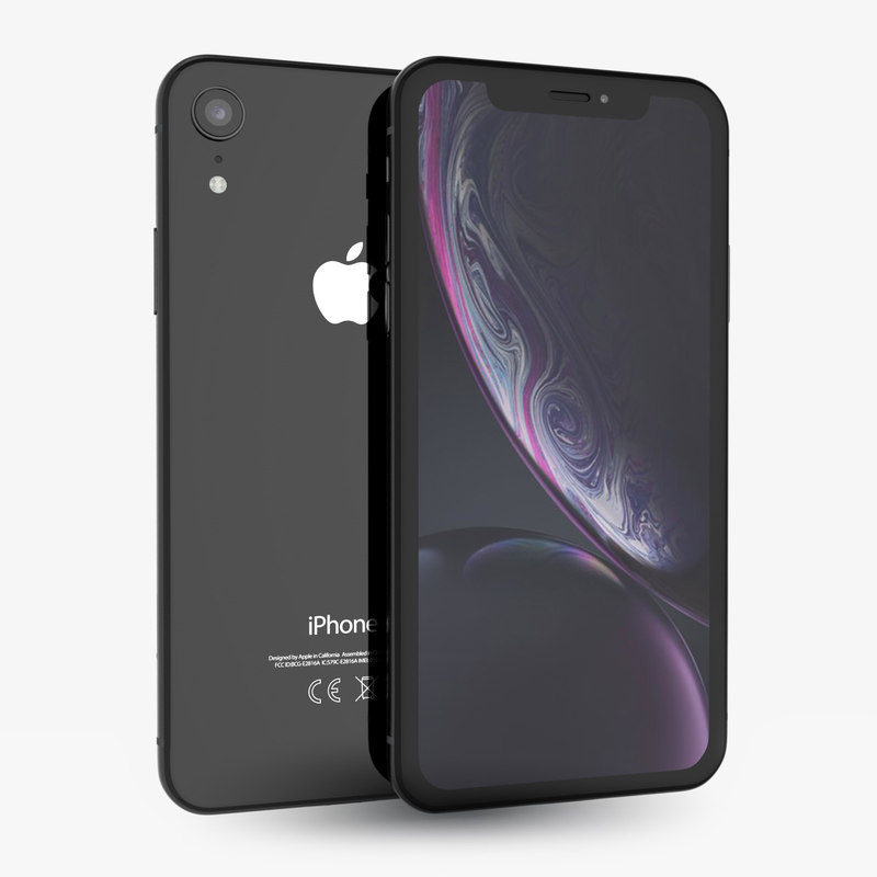 apple iphone xr black 3D model