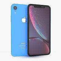 apple iphone xr blue 3D model