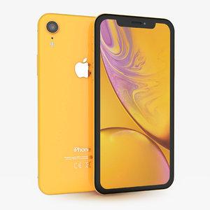 3D apple iphone xr yellow model