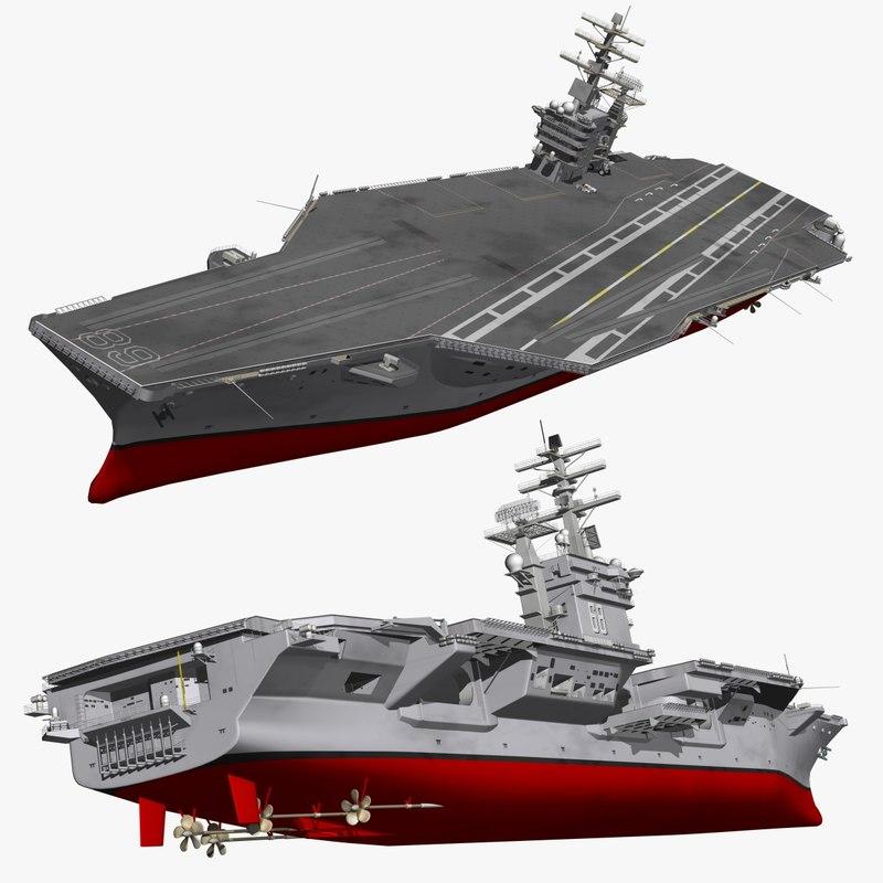 3D uss nimitz supercarrier warships