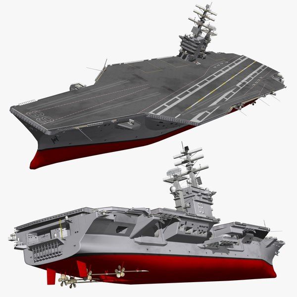 3D uss nimitz supercarrier warships
