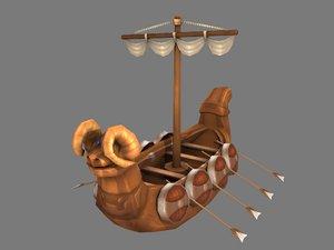 viking ship 3D